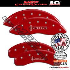 Mgp Caliper Brake Cover Red 36015slcnrd Front Rear For Lincoln Mkt 2015 2016