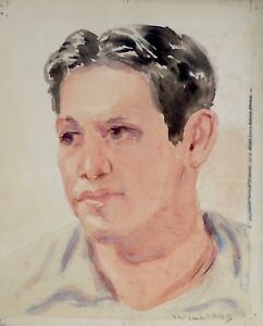 Details about OTIS WILLIAMS, LISTED EARLY CALIFORNIA ARTIST HISPANIC FIGURE  STUDY