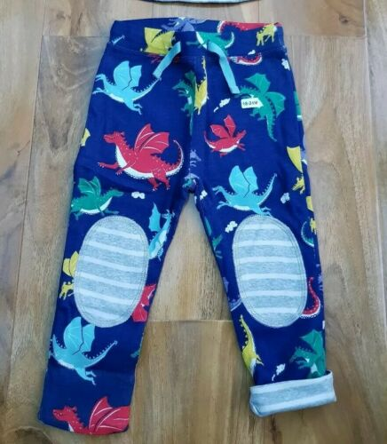 MINI BODEN BOYS SUPERSOFT REVERSIBLE APPLIQUE FUN KNEE PATCH TROUSERS BRAND NEW
