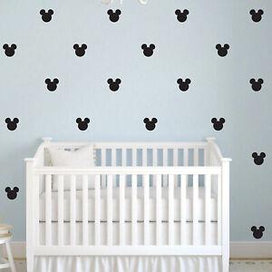 Dettagli su 27 PC \'s Mickey Mouse Bambina Bambini Adesivi Murali  Decorazione Muro Stanza Camera Da Letto Vinile- mostra il titolo originale
