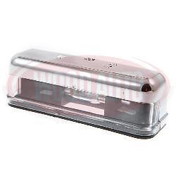 LAM2210 12v CHROME EFFECT LICENSE NUMBER PLATE LAMP CLASSIC CAR MINI CARAVAN MG
