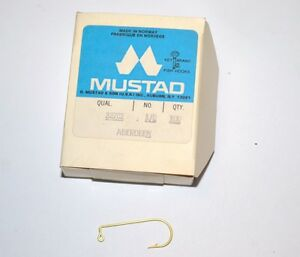 Mustad 3190A 4//0 Pack of 100 Gold Carlisle Hook
