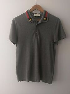 Men-039-s-Gucci-Polo-Bee-Embroidery-Size-Medium
