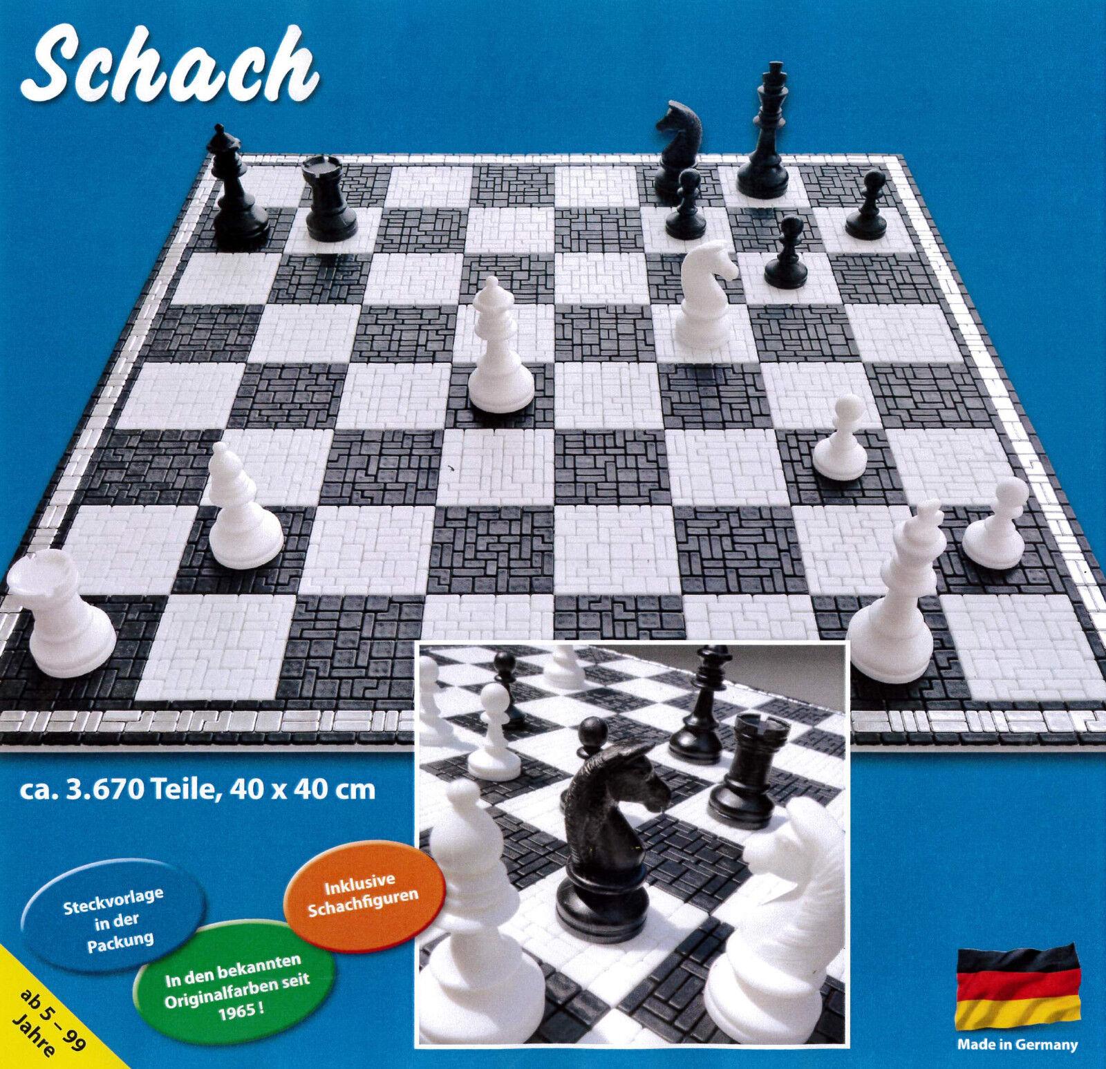 Mini Stecksystem Schachspiel 2 in 1 incl. Schachfiguren Satz KH 74 mm Nr. 42137