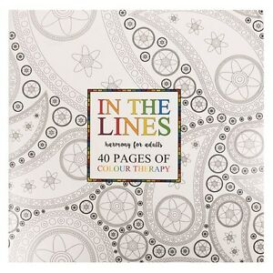 40-Page-Adult-Colouring-Book-Stress-Relief-Relaxation-Creative-Unwind-Calming
