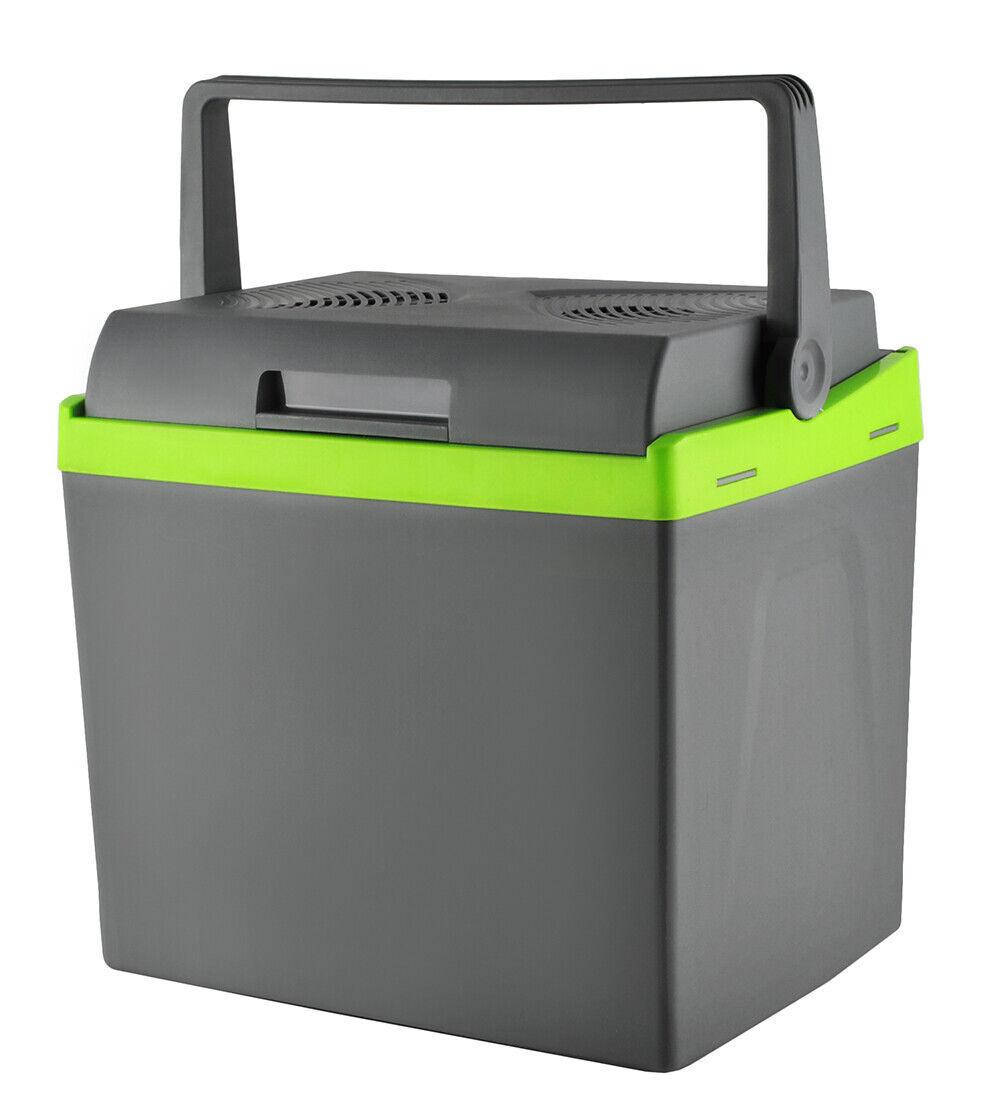 Kühlbox gris 25l 12V 220V Kühlen + Heizen Bequemer Griff Gewicht 4kg  7845