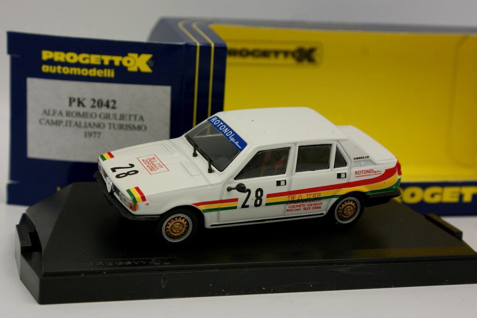 Progetto K 1 43 - Alfa Romeo Giulietta Championnat Italiano Turismo 1977