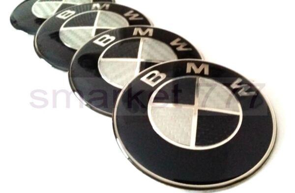 100% Kwaliteit 4x 65mm Black Carbon Bmw Car Wheel Center Caps Curve Badge Plastic Acryl Sticker