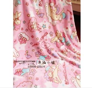 Kawaii-Little-Twin-Stars-Pony-Cartoon-Flannel-Blanket-Bed-Sheet-Throw-55-034-x-79-034