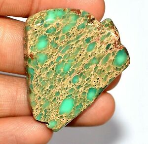"""Natural """"CARCIO LAKE TURQUIOSE"""" 58.80 CT Slab Drilled Untreated AGSL Certified"""