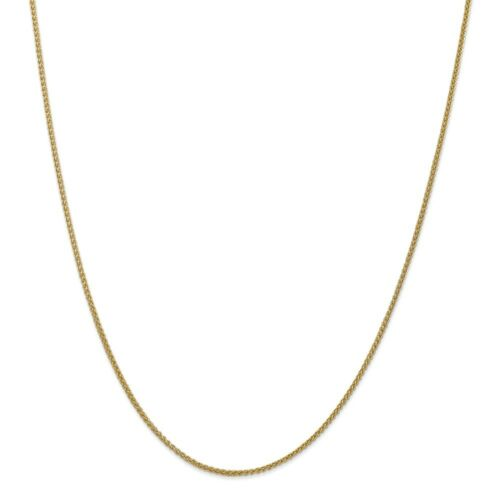 """14k Yellow Gold 1.55mm Semi Solid Wheat Chain w// Lobster Clasp 16/"""" 30/"""""""