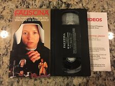 FAUSTINA THE MYSTICAL LIFE VISIONARY OF DIVINE MERCY VHS POLISH w/ENGLISH SUBS!