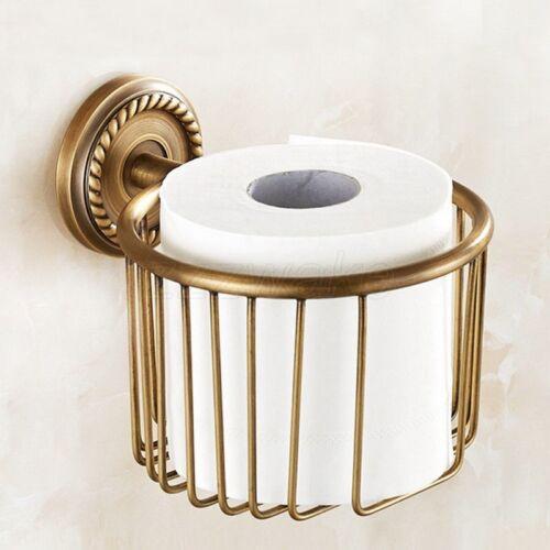 Antique Laiton Mural Salle de Bain Toilette Serviette en papier rouleau tissu Holder ZD640