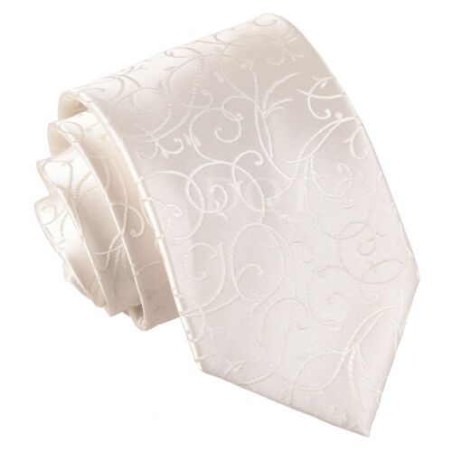 DQT Men/'s Swirl Satin Evening Special Occasion Wedding Groom Tie