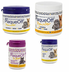 Plaque-Off-Powder-For-Dogs-Cats-Bad-Breath-Tooth-Tartar-Plaque-Removal-All-sizes