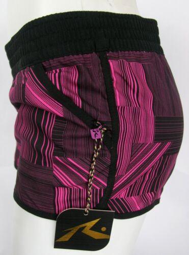 Rusty Shorts Poolside Black Pink Board Shorts Elasticated Waist Rusty Revolution