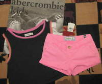 Abercrombie Kids Neon Pink Shorts & Easy Fit Top Sz 8 S