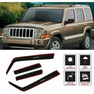 For Jeep Commander 06-10 Inner Channel Ash Grey JDM Window Visors Deflector 4pcs