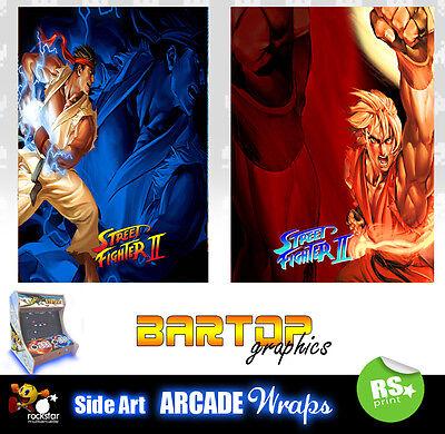 street fighter 2 arcade side art