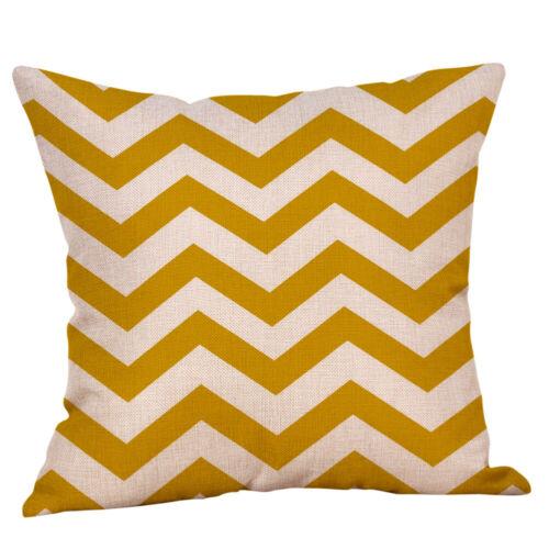 45 cm Mustard Yellow  Geometric Cushion Cover Linen Fabric Pillow Case 18 inch