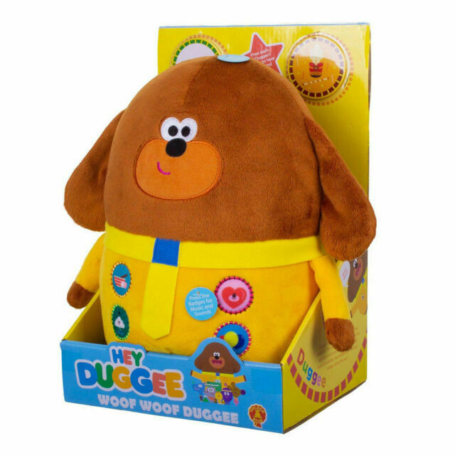 Hey Duggee Woof Woof Talking Duggee Plush Soft Cuddly Toy with Sound Theme Tune
