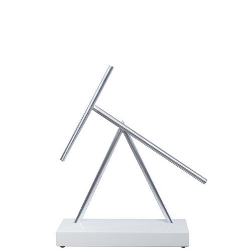Kinetic Energy Perpetual Sculpture The Swinging Sticks Original Shiny White