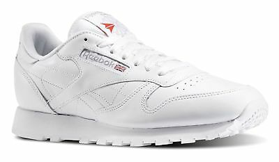 Reebok Men Classic Leather White 9771 Running Shoes 11