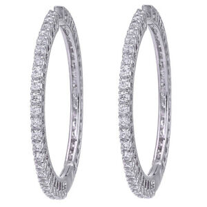 CZ-Round-Hoop-Earring-Swarovski-Elements-White-Gold-Plated-D2