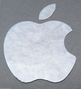 Silver-Apple-Logo-Decal-for-iPhone-Metallic-Stickers-14mm-x-17mm-Approx