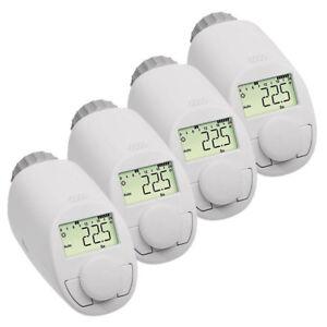 Eqiva 4er-Set Model N Elektronik-Heizkörper-Thermostat mit Boost-Funktion, bis z