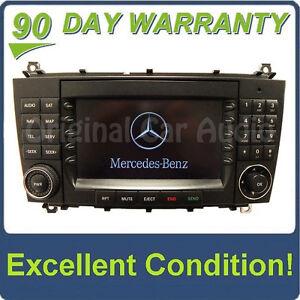 05 07 mercedes benz c class oem comand navigation radio cd for Mercedes benz cd player