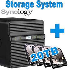 20TB (4x5TB) Synology Disk Station DS416J Netzwerkspeicher Gigabit NAS Lan Daten