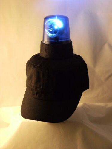 Disco Ball Hat Party Cap Police Blue Light Festival Fancy Dress Stag Hen Cosplay