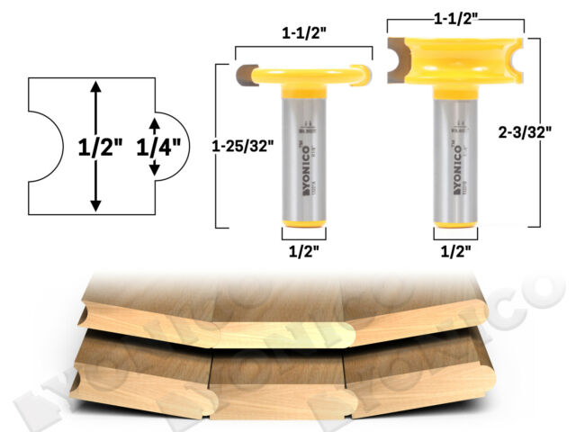 """1-1//4/"""" Finger Joint Router Bit Yonico 15131 1//2/"""" Shank"""