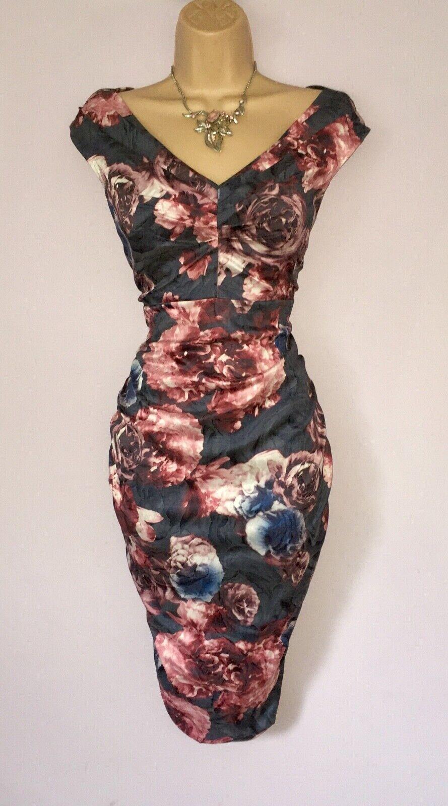 ELEGANT PHASE EIGHT DRESS UK 14 STRETCH BODYCON COCKTAIL DRESS BNWT