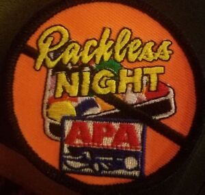 Details about APA BILLIARDS/POOL LEAGUES RACKLESS PATCH-NEW