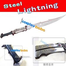FINAL FANTASY FF13 Weapon Lightning Gunblade steel Sword Flamberge Cosplay Prop