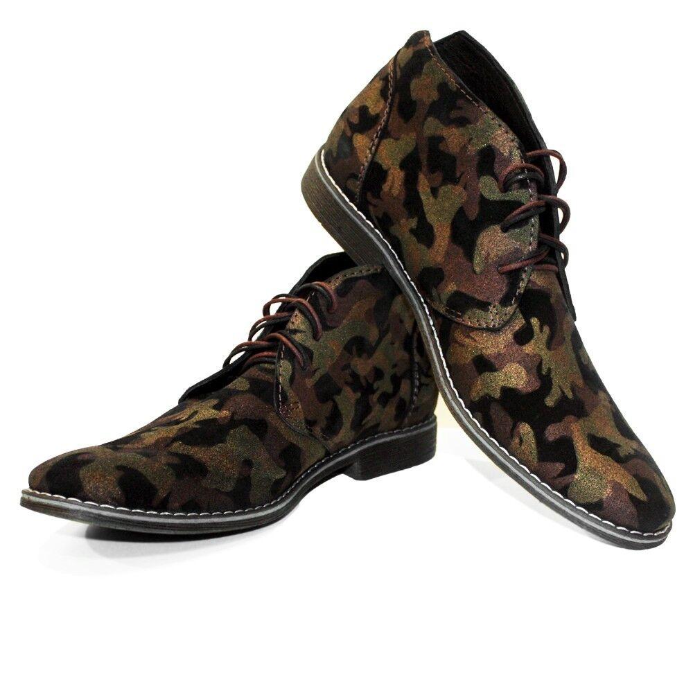Miglior prezzo Modello Modello Modello Moromo - Handmade Coloreful Italian Leather Slip-On Dress scarpe Marrone  scelte con prezzo basso