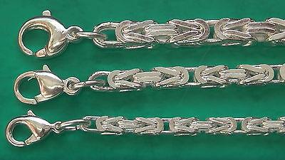 100cm Armband u Königskette vierkant 3x3mm 4x4mm 5x5mm 42cm Fußkette nach Maß
