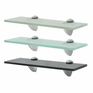 Wall-Mounted-Floating-Toughened-Straight-Glass-Shelf-Various-Zinc-alloy-Supports