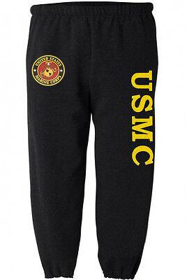 Straight Leg Sweats Workout Pants Men Marines Gifts USMC Sweatpants w// Pockets