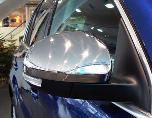 SPECCHIETTI CROMATI CROMATE COPRI CALOTTE SPECCHI per VW TIGUAN 2007-13 4-MOTION