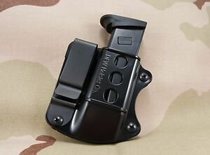 Double-Stack-Tuckable-IWB-Magazine-Holster-Holder-Mag-Pouch-Fits-9mm-40-45