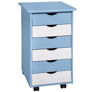 Cassettiere Colorate Per Camerette.Dettagli Su Como Cassettiera A Rotelle Contenitore Colorata Con Ruote Cameretta Blu Nuovo