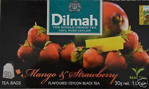 Raisonnable Dilmah Thé-mango & Strawberry Flavoured Black Ceylon Tea 20 Sachet De Thé-afficher Le Titre D'origine Pas De Frais à Tout Prix