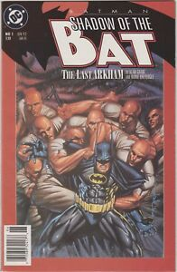 BatmaN-Shadow-of-the-Bat-1-1st-App-Arkham-Victor-Zsasz-TV-SHOW-NEWSSTAND-RARE