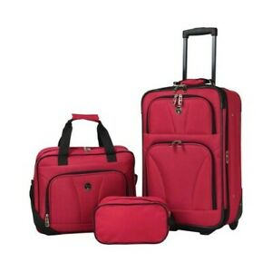 Travelers Club Unisex Bowman 3 Piece Expandable Value Set Red Size OSFA