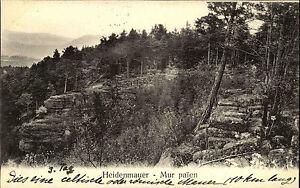 Elsass-Alsace-CPA-1900-St-Odilienberg-Stempel-auf-AK-Heidenmauer-Mur-paien