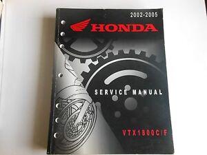 honda service manual 2002 2005 vtx1800 c f vtx 1800c f 61mch03 ebay rh ebay co uk honda vtx 1800 service manual pdf 2007 honda vtx 1800 owners manual pdf