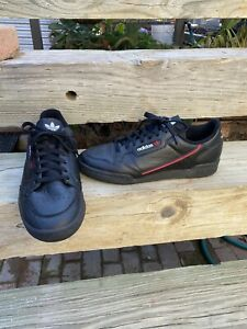 Details about adidas Continental 80 SHOES Mens Size 10-1/2 Core  Black/Scarlet/Collegiate Navy